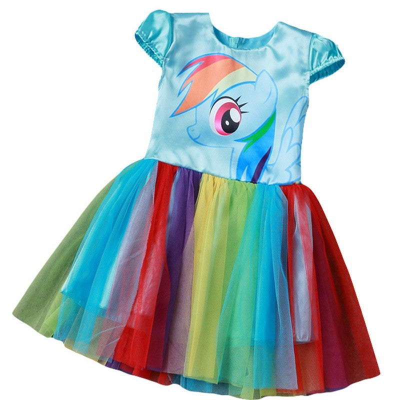 b0839b23770 New Hot Sale My Baby Girl Dress Children Girl little Pony Dresses Cartoon  Princess Party Costume Kids Clothes Summer Clothing