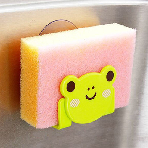 New Soap Sponge Suction Drying Holder Home Kitchen Bathroom Racks Hook