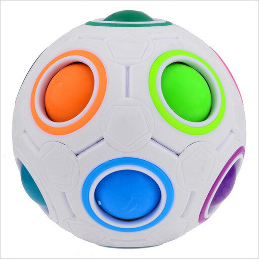 NEW Spherical Magic Cube Toys Novelty Rainbow Football Puzzle Learning & Educational Toys For Children Kids Adult