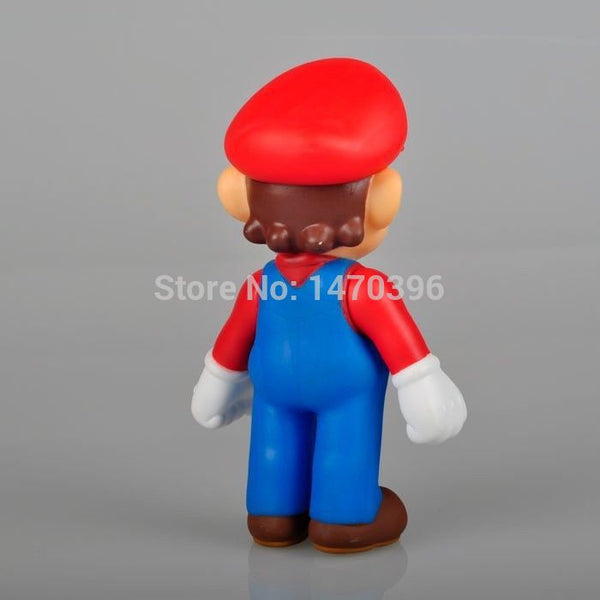 "New Super Mario 5"" MARIO Action Figure Toy Red Hat mm"