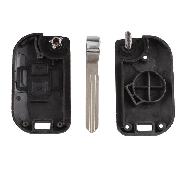 New Uncut Folding Flip Remote Key Shell Car Case Fob Cover for Nissan Micra K12 Note Navara Qashqai 2 Buttons