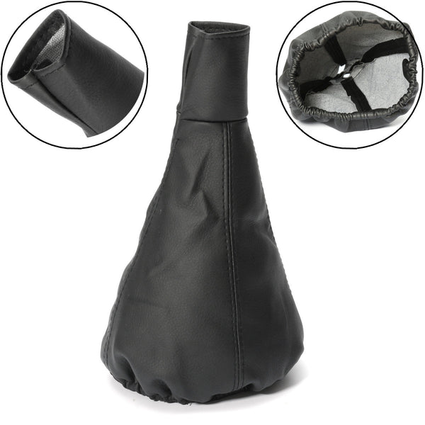 New Universal Black Car Leather Gear Shift Knob Gearstick Gaiter Boot Dust Cover Gear Shift Collars for All Cars