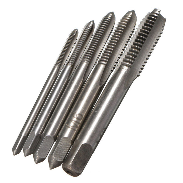 Newest 5PCS Set HSS Hand Tap M3 M4 M5 M6 M8 Tap & Die Machine Spiral Point Straight Fluted Screw Thread Metric Plug Hand Tools