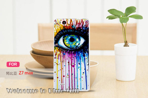 (nor for Z7) Hard Plastic Painted Mobile Phone Case For Zte Nubia Z7 Max Case Cover For ZTE Z7 Max 5.5inch Phone Shell