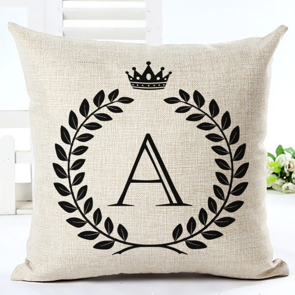 Nordic Customized Cushion Covers Wheat Custom Pillows Case 26 Letter Bed Sofa Decorative Gift Almofadas Cojines