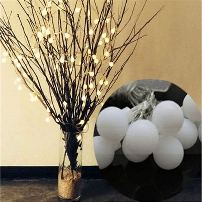 Novelty Outdoor lighting 3m 20 LED white string lamps white wire Christmas Lights fairy wedding garden pendant garland