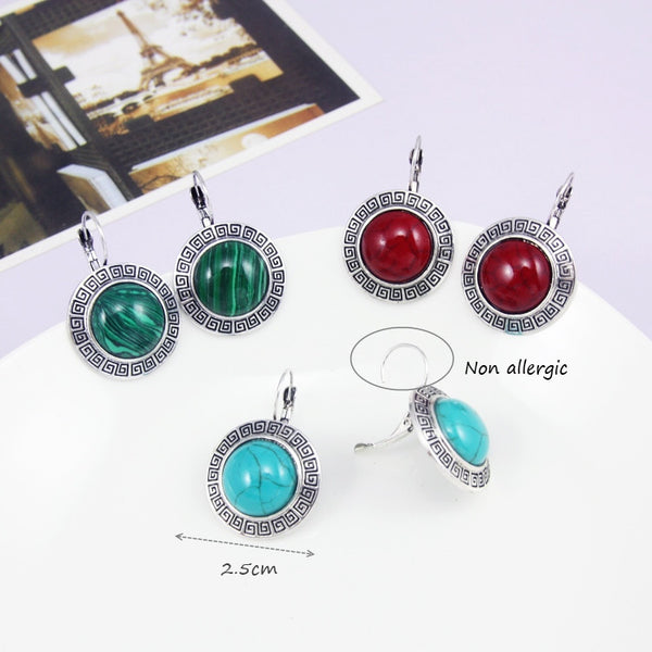 Ocesrio Vintage Zinc Alloy Metal Stud Earrings Women Ers-g49