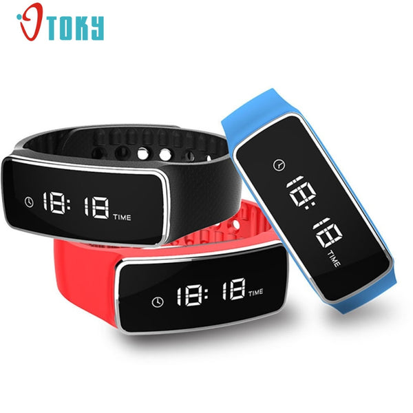 Otoky Silicone Smart Stainless Steel Digital Wristwatches Men Bet