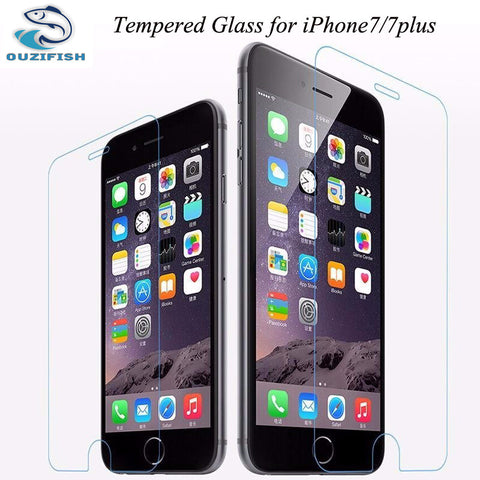 (OUZIFISH)0.3mm High Transparent Screen Protector For iPhone 7 Plus Tempered Glass for iPhone7 7plus Protective Guard Film Cover