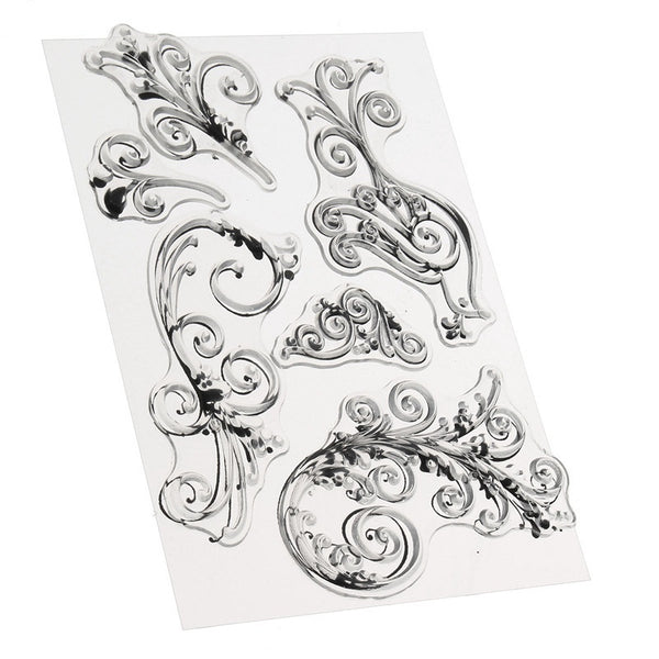 Peacock Flourishes Design Transparent Clear Stamp Seal for DIY Photo Album Scrapbooking Card Making Hand Account Decor Supplies