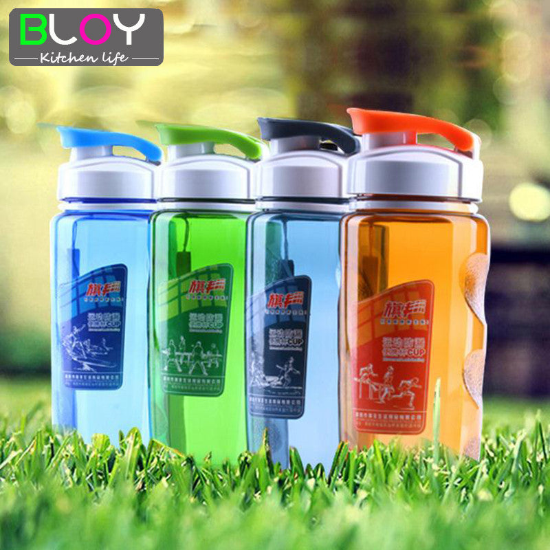 Plastic Sports Water Bottle Space Cup Bike Outdoor Camping Protein Powder Shaker Bottles 470ML