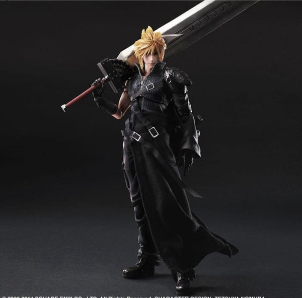 Play Arts Final Fantasy Figure Final Fantasy VII Cloud Strife Figure PA 27cm PVC Action Figure Doll Toys Kids Gift
