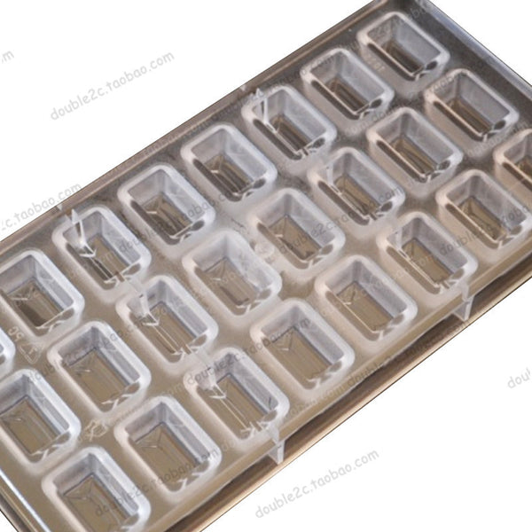 Polycarbonate Chocolate Mold 24cups Plastic Chocolate Molds Handmade Molde Chocolate Forma de Para Chocolate free shipping