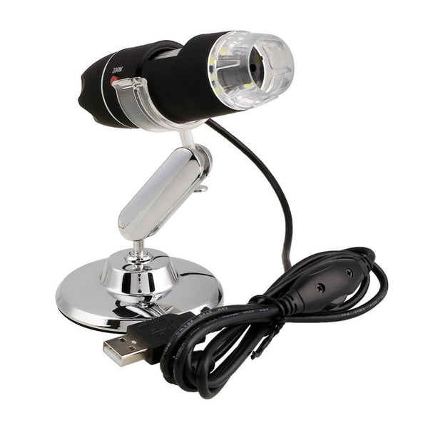 Practical Electronics 2MP USB 8 LED Digital Camera Microscope Endoscope Magnifier 50X~500X Magnification MeasureABS+ alloy