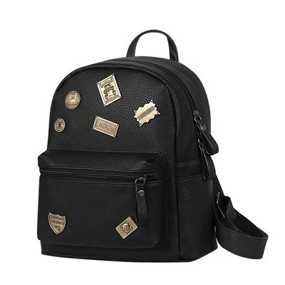Ybyt Solid Pu Backpacks Women 0639