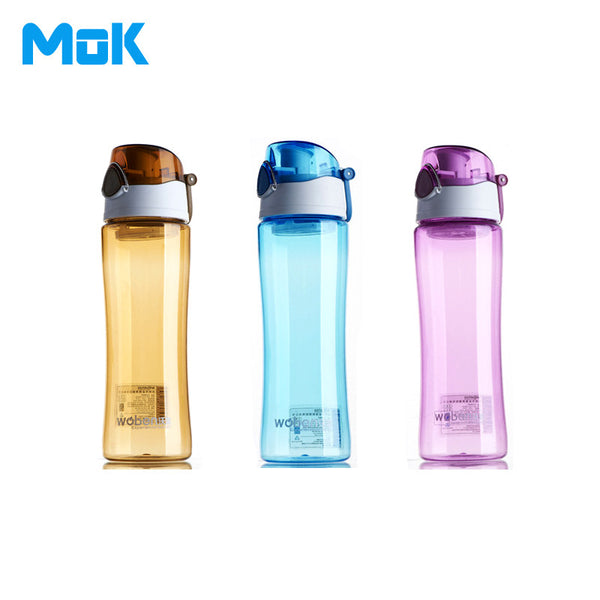 Pu'er Tea+Portable Plastic Sport Water Bottles Dual Locked Leak Proof 600ml With Fliter Bicycle Fruit My Transparent Brand Cups