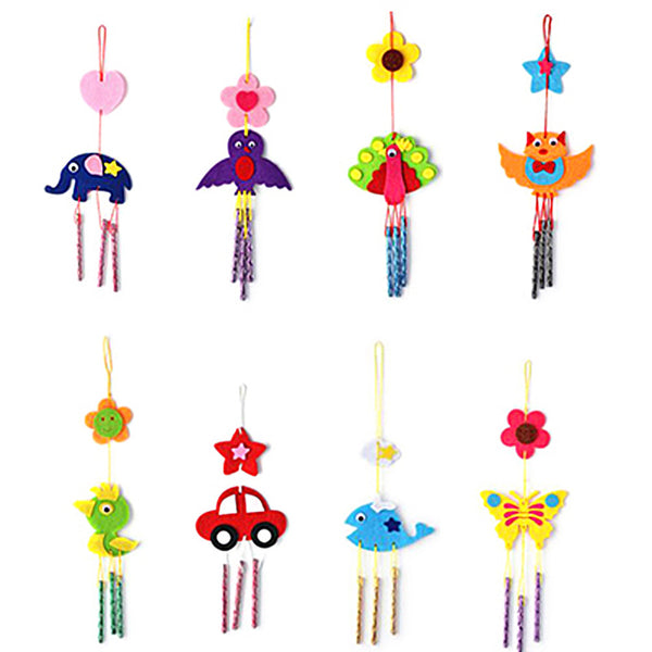 Puzzle Toys for Kids Campanula Wind Chime Kids Children Kindergarten Manual Arts Crafts Kits DIY Educational Toy Randomly Sent