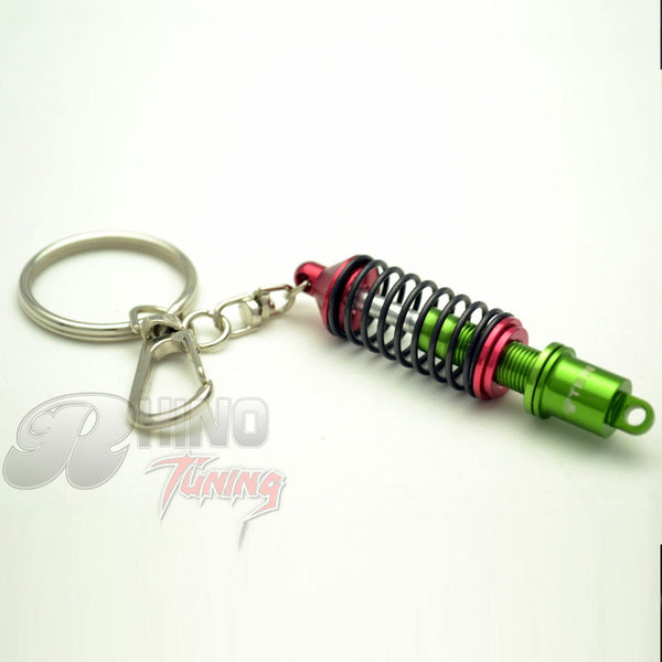 Red TEIN Damper Coilover Keyring Keychain For Tiguan Camry Civic FType Accord CR-V CC Turbo Tuning Key Ring Keychain Accessories