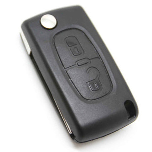 Replacement 2 Button Uncut Blade Remote Flip Folding Key Shell Case For CITROEN C2 C3 C4 C5 C6 Free shipping
