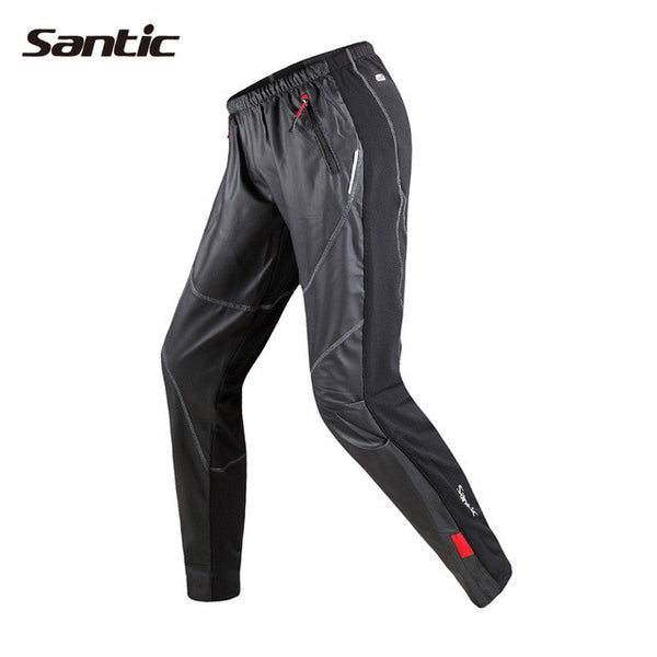 Santic New Winter Cycling Long Pants Men Cycling Loose Pants Windproof Thermal Cycling Pants Fleece Warm Trousers Sports KP6201