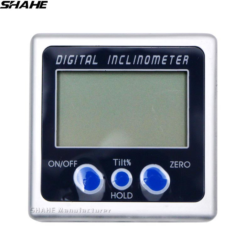 shahe electronic protractor digital inclinometer goniometro electronic level digital angle gauge magnetic digital protractor