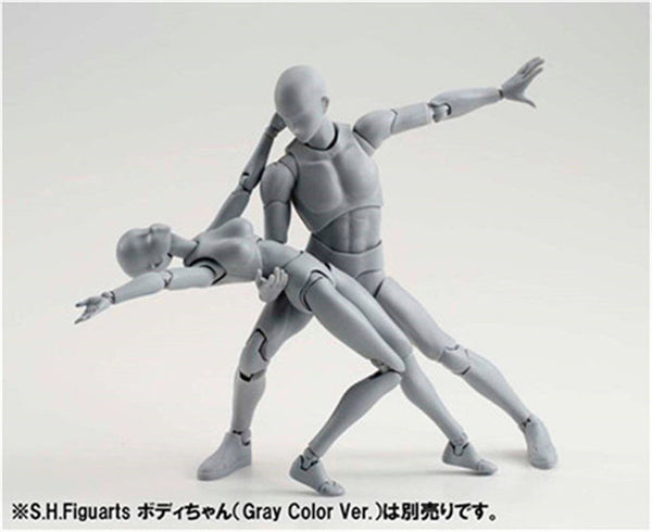 SHFiguarts BODY KUN BODY CHAN Grey Color Ver. PVC Action Figure Collectible Model Toy