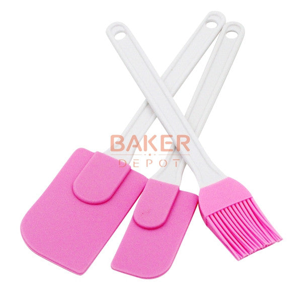 silicone cream spatula cream brush baking oil brush mixing shovel butter scraper flour scrapers 3pc set SBT-001-7