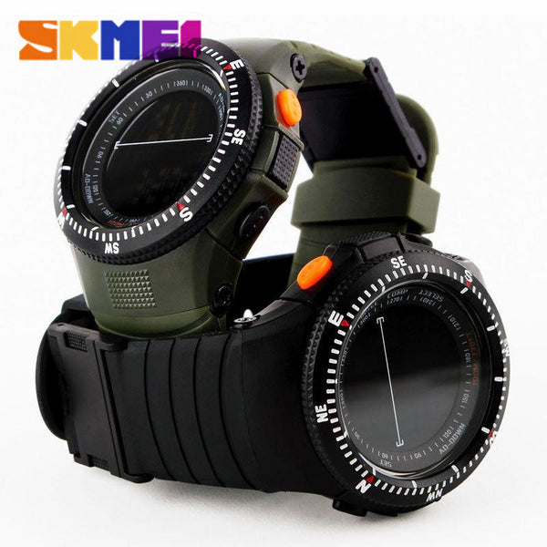 SKMEI 0989 Men Sports Watches Tactical Watch Man Quartz Clock LED Digital Waterproof Military Wristwatches Travel Kits