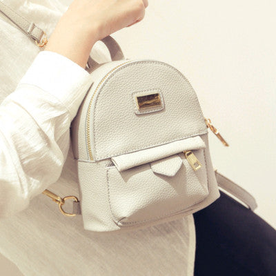 Ybyt Solid Pu Backpacks Women 0838