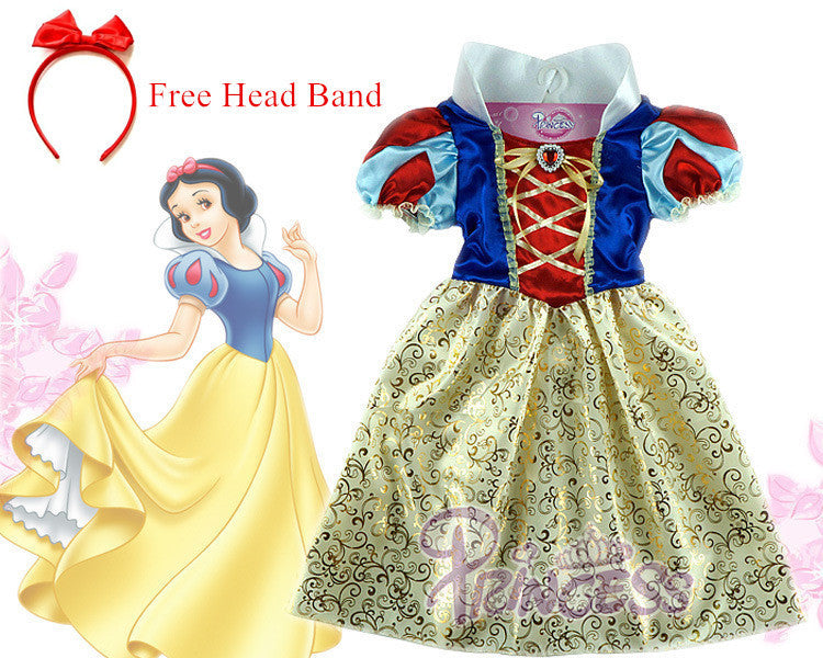 Snow white Dress for halloween party dress girls costume vestidos infantil de festa meninas Blancanieve fantasia de princesa