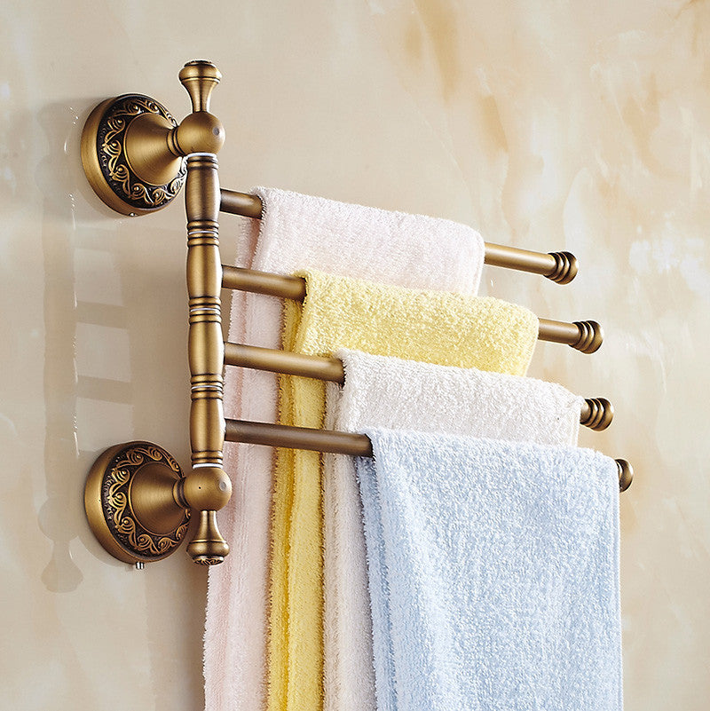 Reproduction Vintage Bath Towels: Solid Brass Vintage Style Bathroom Revolve Towel Bar