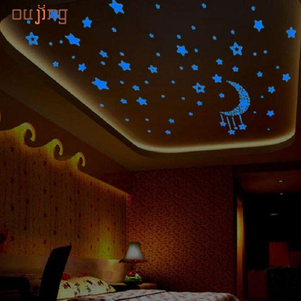 SP 21 Mosunx Business 2016 Hot Selling A Set Kids Bedroom Fluorescent Glow In The Dark Stars Wall Stickers