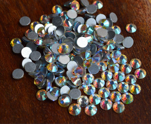 (ss3 ss4 ss5 ss6 ss8 ss10 ) Nail Art Rhinestone Crystal AB Color 1440pcs pack Non Hotfix Flatback Crystal StonesNRS02