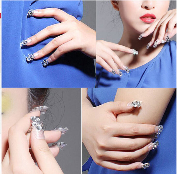 (ss3 ss4 ss5 ss6 ss8 ss10 ) Small Size Nail Art Rhinestone Crystal Clear Flatback Non Hot Fix Rhinestone without Glue NRS01