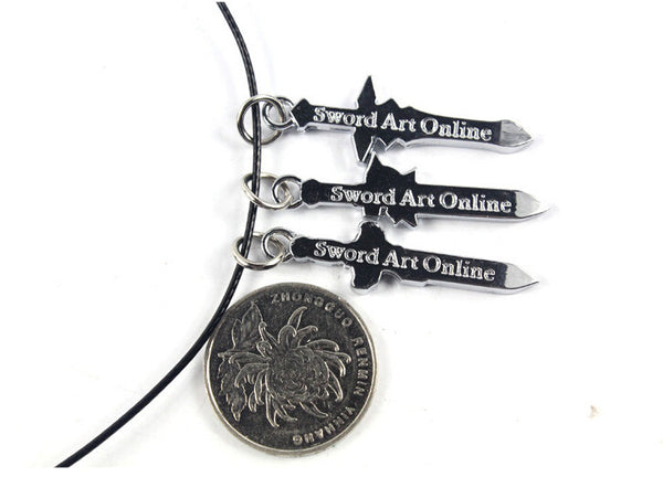 SST* ( Sword Art Online ) Japanese anime Necklace Classic Kirito Asuna Mini swords Anime Weapons Birthday gift Cosplay Boy Toy +