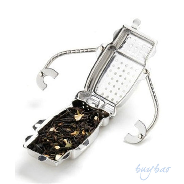 Stainless Steel Cute Robot Tea Infuser Manufacturer Direct Recyclable Tea Strainers Tea Tool