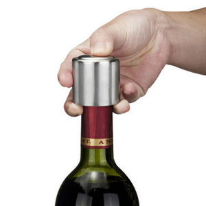 Stainless Steel Vacuum Sealed Red Wine Storage Bottle Stopper Plug Bottle Cap Opener Wine tool Free Shipping