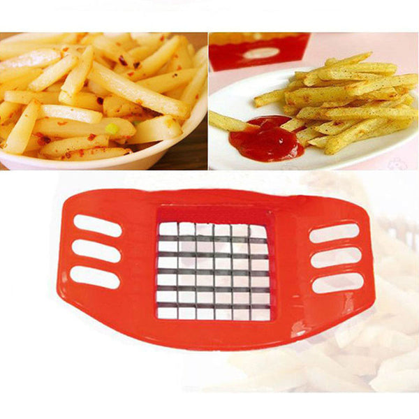 Stainless Steel Vegetable Potato Slicer Cutter Chopper Chips Making Tool Potato Cutting Fries Tool cozinha Kitchen Accessories