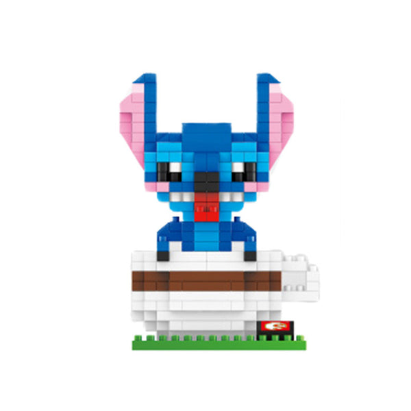 Stitch Minifigures Cartoon Characters Cute Model Fun Toys Anime Action Figures DIY Building Blocks Gifts