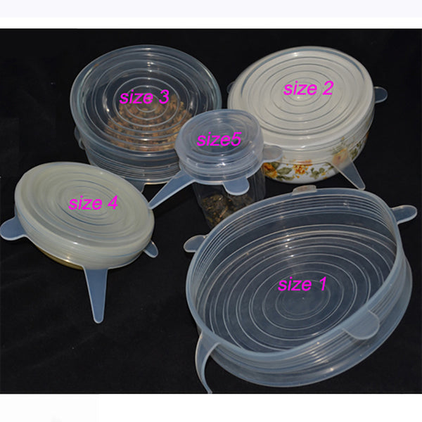 Stretchable Lids Cover Food Silicone Kitchen Picnic Outdoor Easy to Use Reusable Multi-Purpose Convenient