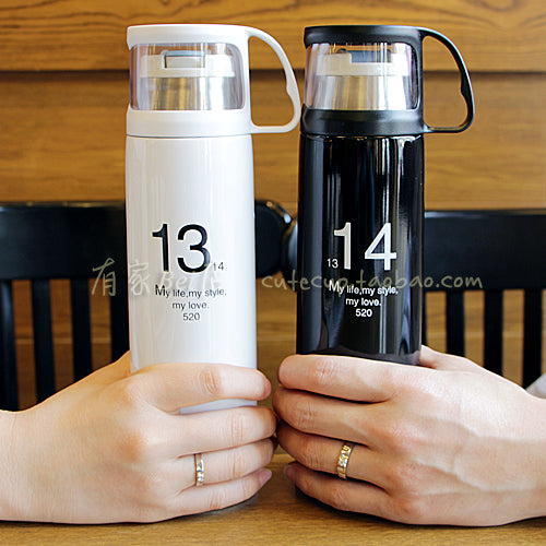 Stylish Thermos Cup 350 500ml Termo Bottle Stainless Steel 12 hours Insulation Thermal Water Vacuum Flask Coffee Mug Drinkware