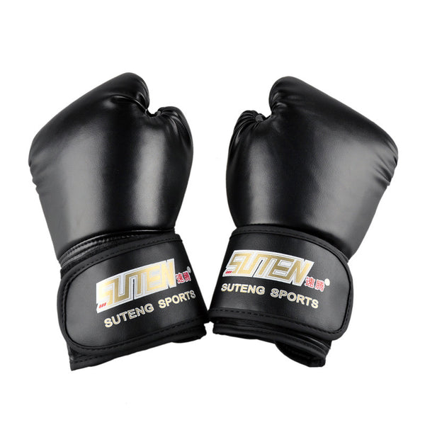 SUTEN brand PU leather sport training equipment Boxing Gloves Kick boxing MMA Training Fighting Sandbag Gloves Sanda mittens