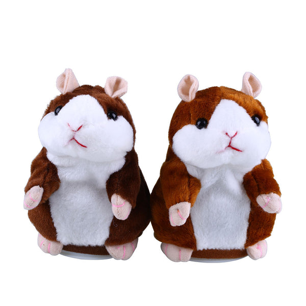 Cute Talking Hamster Plush Animal Doll Sound Record Repeat Educational Toys Gift