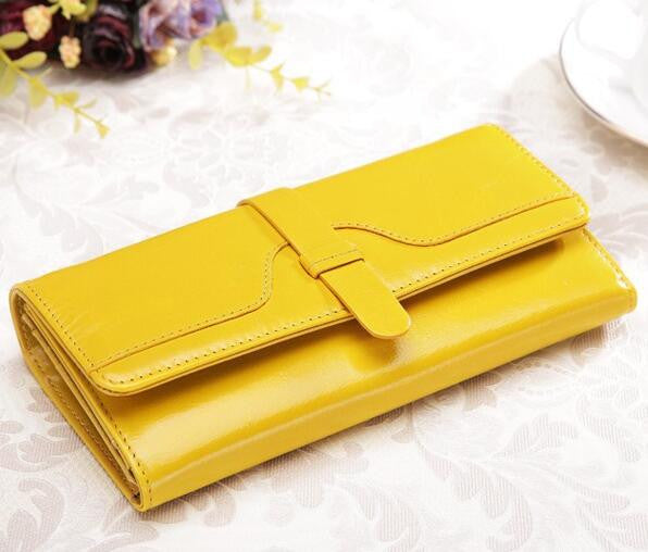 Teemzone Solid Genuine Leather Wallet Women Q088