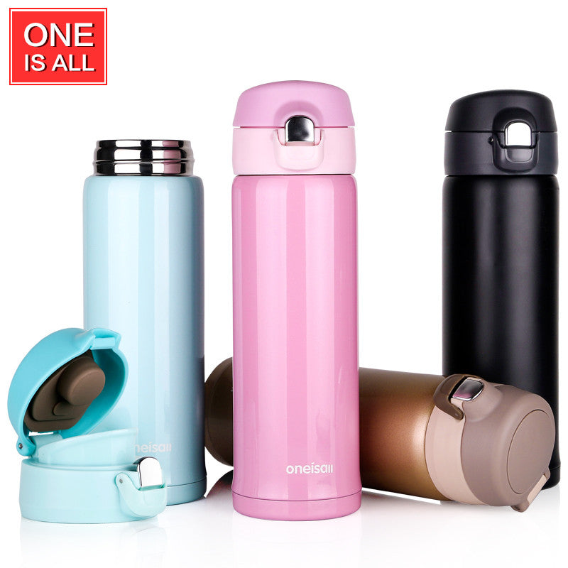 Thermos Cup Stainless Steel Thermos Mug Drinkware Lady's Travel Thermo Coffee Tumbler Thermoes Vacuum Flask Insulated Mug Bottle