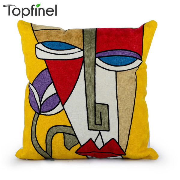 Top Finel 2016 Embroidery 100% Cotton Cushions Car Cover Decorative Throw pillows Covers for Sofa cushion Case 45x45cm