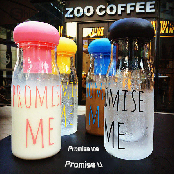 TRANSHOME Korea Style Promise Me My Water Bottle Sports Bottles Fruit Infuser 800ml Outdoor Tourism Drinking Utensils