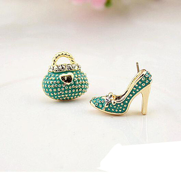 Trendy Zinc Alloy Acrylic Stud Earrings Women Sku E198