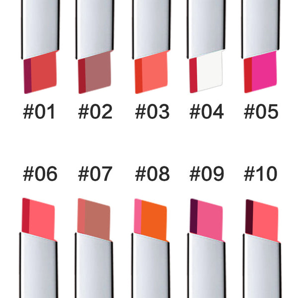 TUTU Lips Makeup Double Color Gradient Lipstick 6 Color Gloss Korea Makeup Lips Cosmetic Face Make Up Waterproof Famous Brand