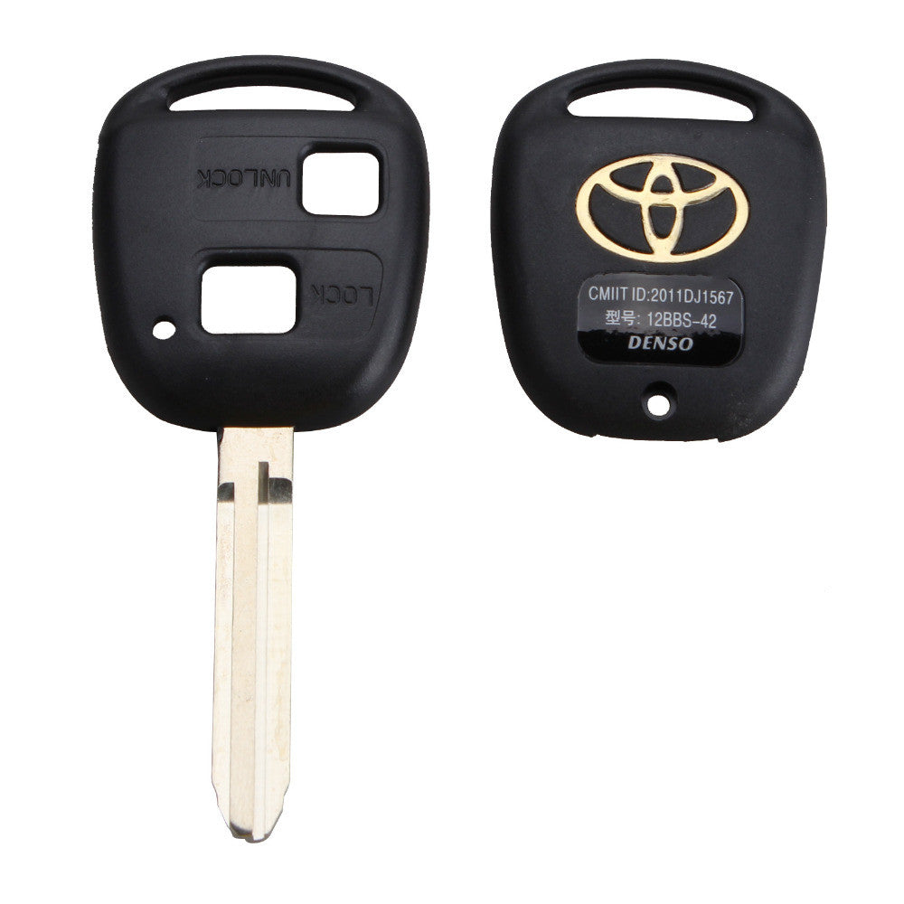 Uncut Replacement Blank Remote Key Shell Case for Toyota Avensis Yaris Auris 2 Buttons Key Cover with Logo